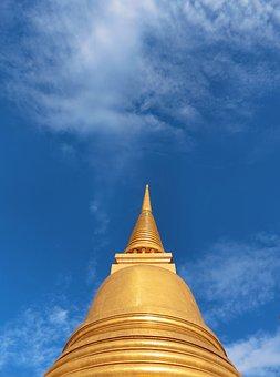 Pagoda, Sky, Gold, Faith, Architecture, Religion