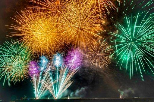 Fireworks, Summer, Starmine, Rocket, Fireworks Display