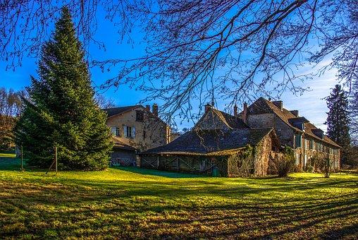 House, Home, Garden, Farm, Property, Country, Grass