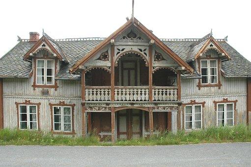 Norway, Lesja, House, Depopulation