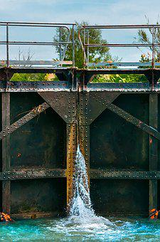 Lock, Channel, Water, Ecluse, France, Noon, Provence
