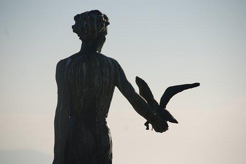Statue, Maiden With The Seagull, Opatija, Croatia
