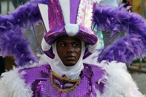 Guy, Black Guy, Carnival, Masquerade, Costume, Person