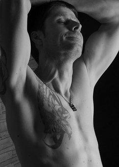 Man, Muscles, Tattoo, Tattooed Man, Portrait, Body