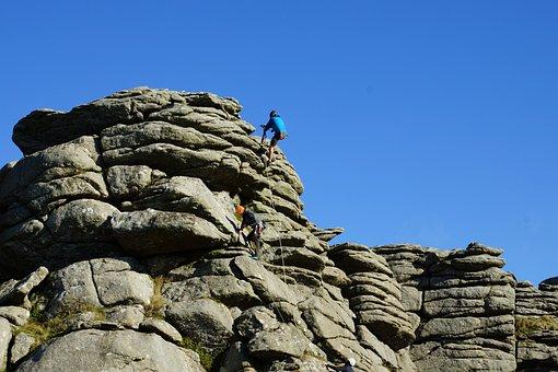 Rock Climbing, Dartmoor, Hound, People, Granite