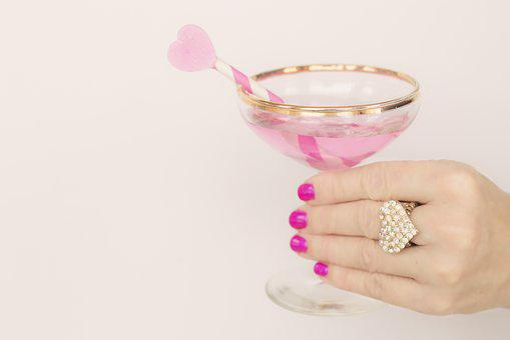 Valentines Day, Valentine, Champagne, Cheers, Pink