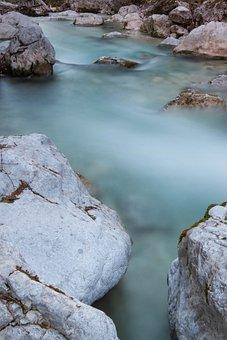 River, Stones, Berchtesgarner Land