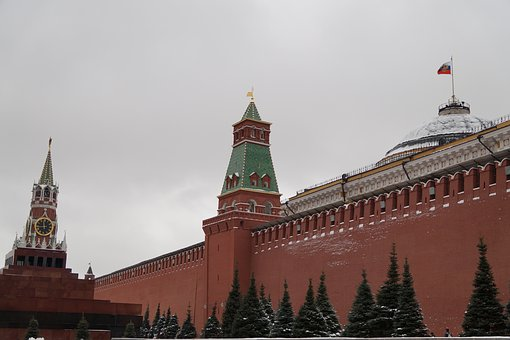 The Kremlin, Moscow, Chime, Wall, Russia, Red Square