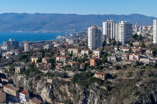 Croatia, Rijeka, Adriatic, Town, Panorama, Fiume