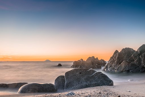 Beach, Wave, Italy, Stromboli, Sea, Foam, Summer, Coast