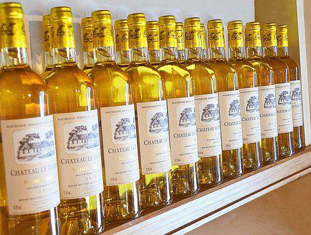 White Wine, Bottles, Drink, Monbazillac, Bordeaux
