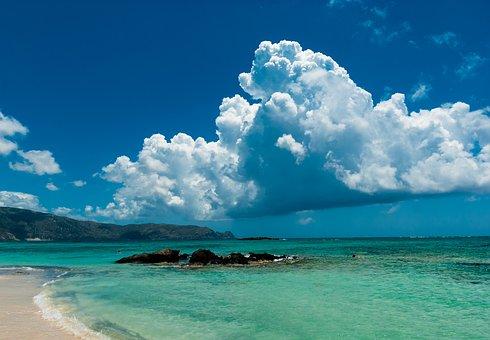 Crete, The Sun, Holidays, Elafonisi, Sea, Water, Clouds
