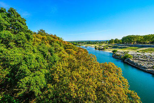 Avignon, River, South Of France, France, Mediterranean