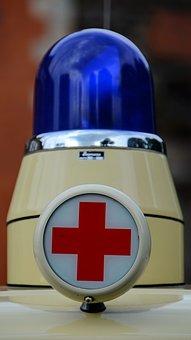 Blue Light, Old, German Red Cross, Drc, Red, Oldtimer