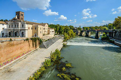 Rome, Tiber, River, Island, Italy, Italian