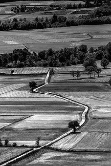 Fields, Castle Masino, Aerial, Lines