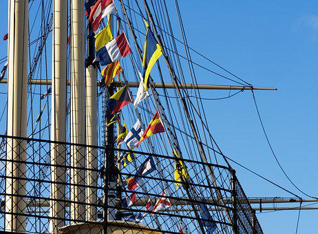 Rigging, Ship, Sailing, Ss Great Britain, Mast, Flag