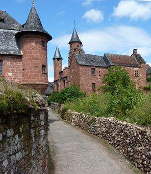 France, Village, Medieval, Medieval Village, Facades