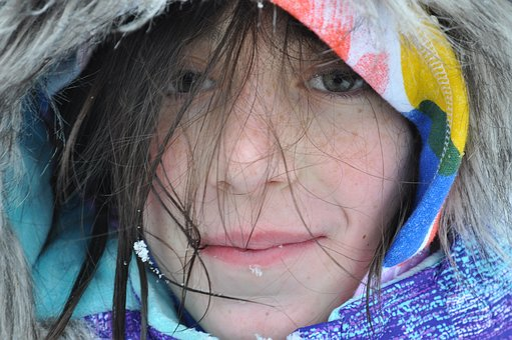 Messy Hair, Girl, Snow, Face, Portrait, Messy, Hair