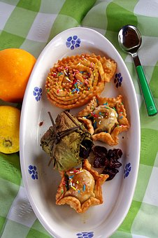 Sweets, Calabria, Italy, Christmas Cakes, Panicelli