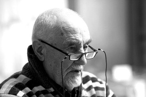 Portrait, Man, Senior, Beard, Person, Look, Old Man