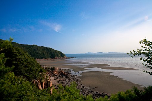 Muuido, Sea, Mountain, Coastal, Sky, Beach, Korea