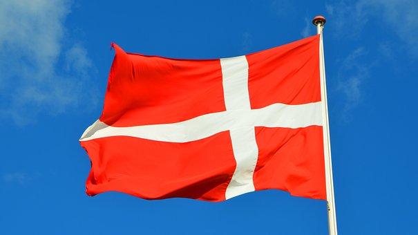 Denmark, Flag, Sky, Danish Flag, Danish, Blue Sky