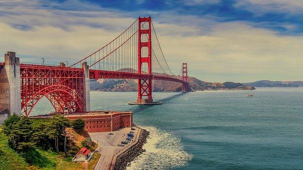 The Golden Gate Bridge, Bridge, Suspension Bridge, Us