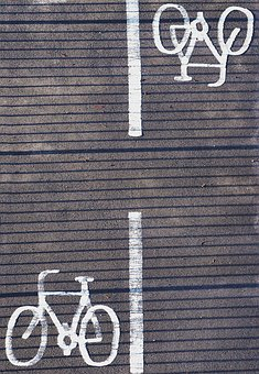 Cycle, Bicycle, Bike, Lane, Path, Track, Road, Marking