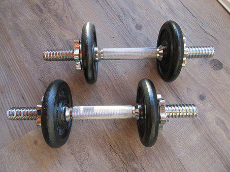Weights, Weightlifting, Strong, Practice, Pounds