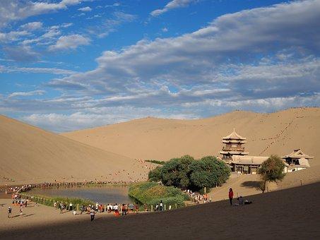 China, Desert, Crescent Bay, The Scenery