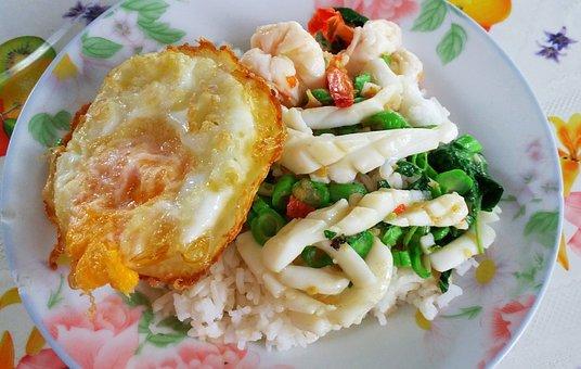 Food, Dish, Rice, Thailand Food, Thailand, Shrimp