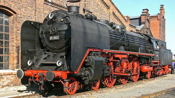 Steam Locomotive, Express Train, Museum, Exhibit, Br01