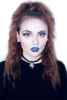 Make Up, Face, Applying, Beauty, Fashion, Cosmetics