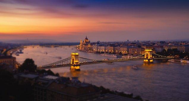 Budapest, Hungary, Bridge, Night Budapest
