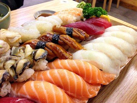 Sushi, Japanese, Salmon, Eels, Time, Fish, Food