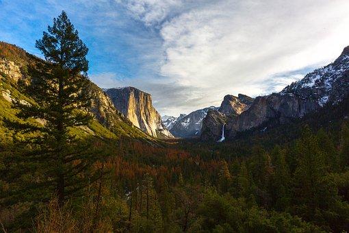 Yosemite, Mountains, Nature, California, Travel, Park