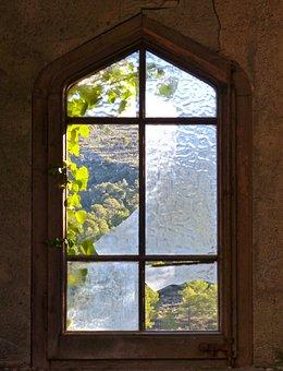 Window, Old, Window Broken, Broken Glass, Abandonment