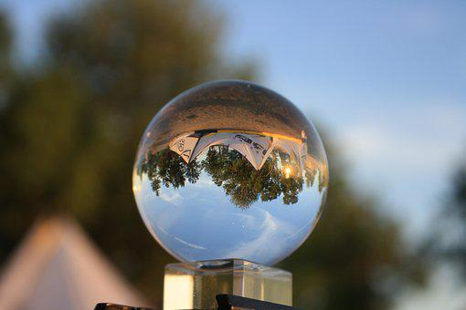 Crystal Ball, Reflection, Crystal, Sphere, Ball, Globe