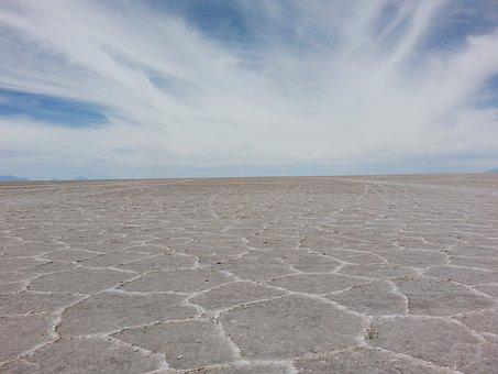 Salar De Uyuni, Saltflat, Uyuni, Bolivia