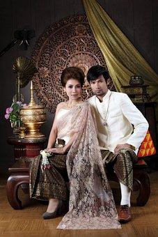 Wedding, Pair, Woman, Pretty, Thailand, Joy, Asia