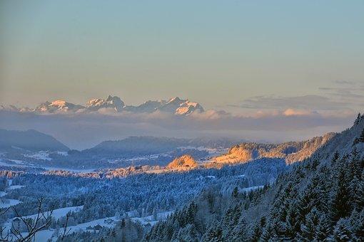 Germany, Allgäu, Allgäu Alps, Mountains, Landscape