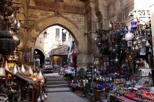 Egypt, Cairo, Bazaar, Eastern, Market, Arabic, Arabian