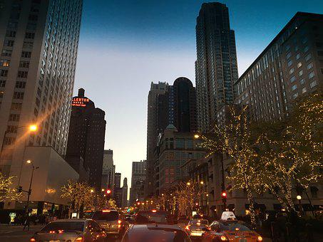Chicago, Downtown, City, Architecture, Building