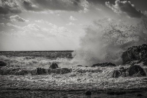 Wave, Crashing, Coast, Water, Nature, Crash, Sea, Beach
