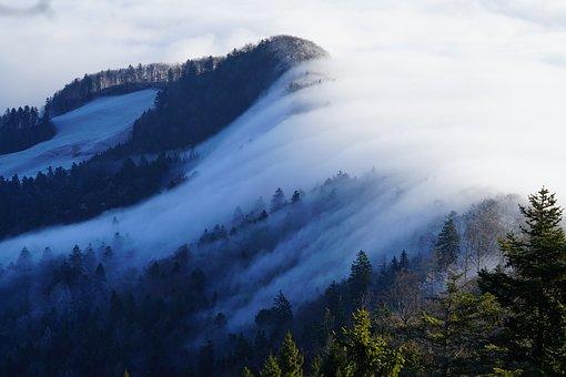 Fog, Nebellandschaft, Wave Of Fog, Belchenflue
