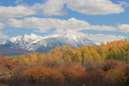 Colorado, Chair Mountain, Alpine, Landscape, Aspen