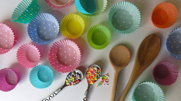 Cupcakes, Baking, Cupcake Cases, Celebration, Colorful