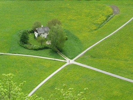 Crossroads, Little House, Park, Salzburg Park