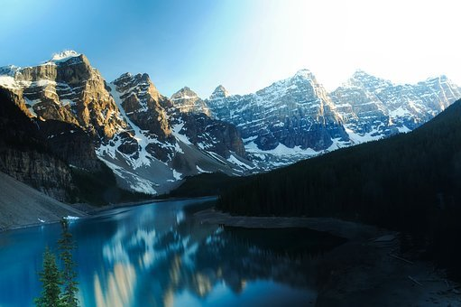 Moraine Lake, Water, Reflections, Canada, Mountains